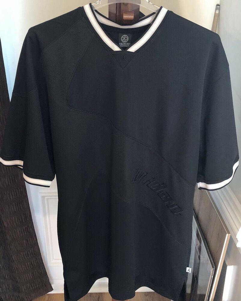 "66e21e52e65 Nike Air Jordan RN#56323 CA#05553 Short Sleeve Black Embroiled ""JORDAN""  Logo! | eBay"