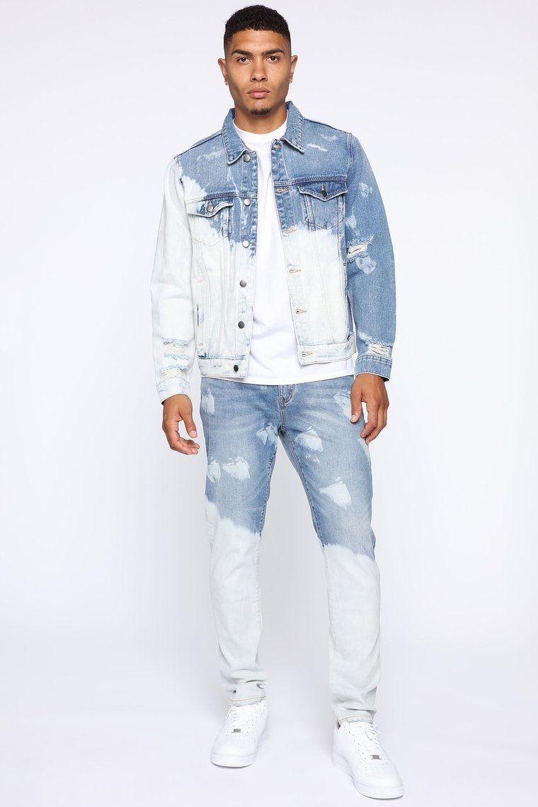 Bleach Bod Denim Jacket Bleachbluewash Denim Outfit Men Diy Denim Jacket Bleached Denim Jacket [ 1140 x 760 Pixel ]