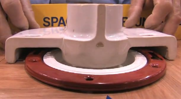 Cutaway Of Toilet To Flange Spacing Home Maintenance Repair And