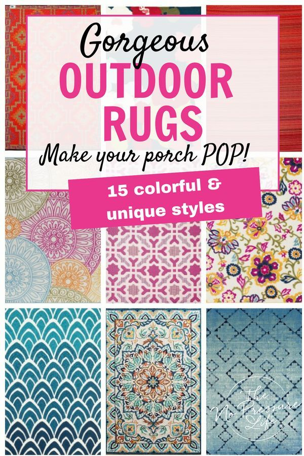 15 Colorful Outdoor Rugs That Will Make Your Porch Pop! #outdoorrugs