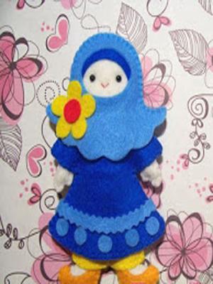Cara Membuat Boneka Orang Muslim atau Muslimah Boneka