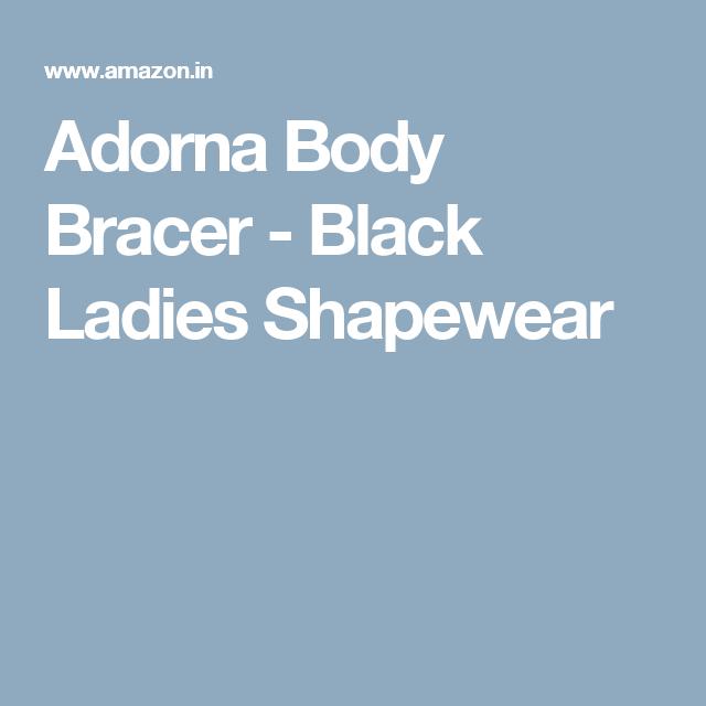 9256f91cf0 Adorna Body Bracer - Black Ladies Shapewear