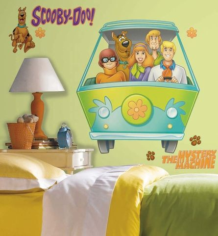 Scooby Doo Mystery Machine Giant Peel & Stick Wall Decal | Kids room ...
