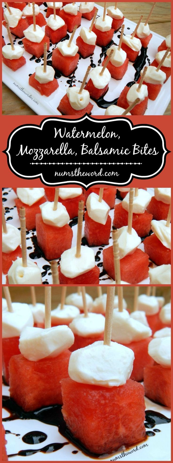 Looking for a simple, refreshing appetizer for your next party? Try these watermelon mozzarella & balsamic bites. They whip up in minutes and taste great!