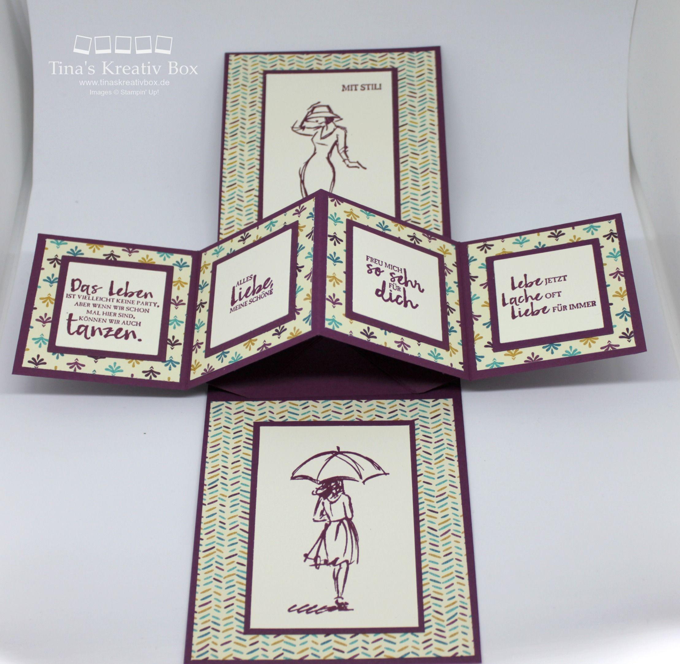 mit stil pop up karte mit produkten von stampin 39 up cards beautiful you su cards pop up. Black Bedroom Furniture Sets. Home Design Ideas