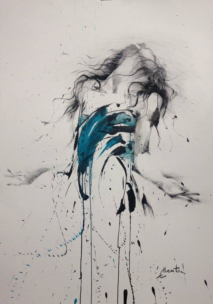 Drawing Dramatic Peinture Abstraite Toile Dessin Abstrait
