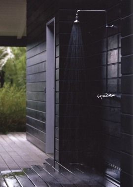 how complicated would it be to connect an outdoor shower to the basement bathroom at the lakehouse @Letie K Mann ?