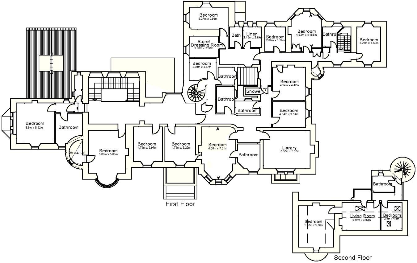 Achamore House Floor Plan 2 House Floor Plans Floor Plans House Plans