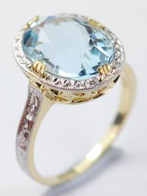1960 S Vintage Aquamarine Engagement Ring Rg 3630 In 2018 Vintage