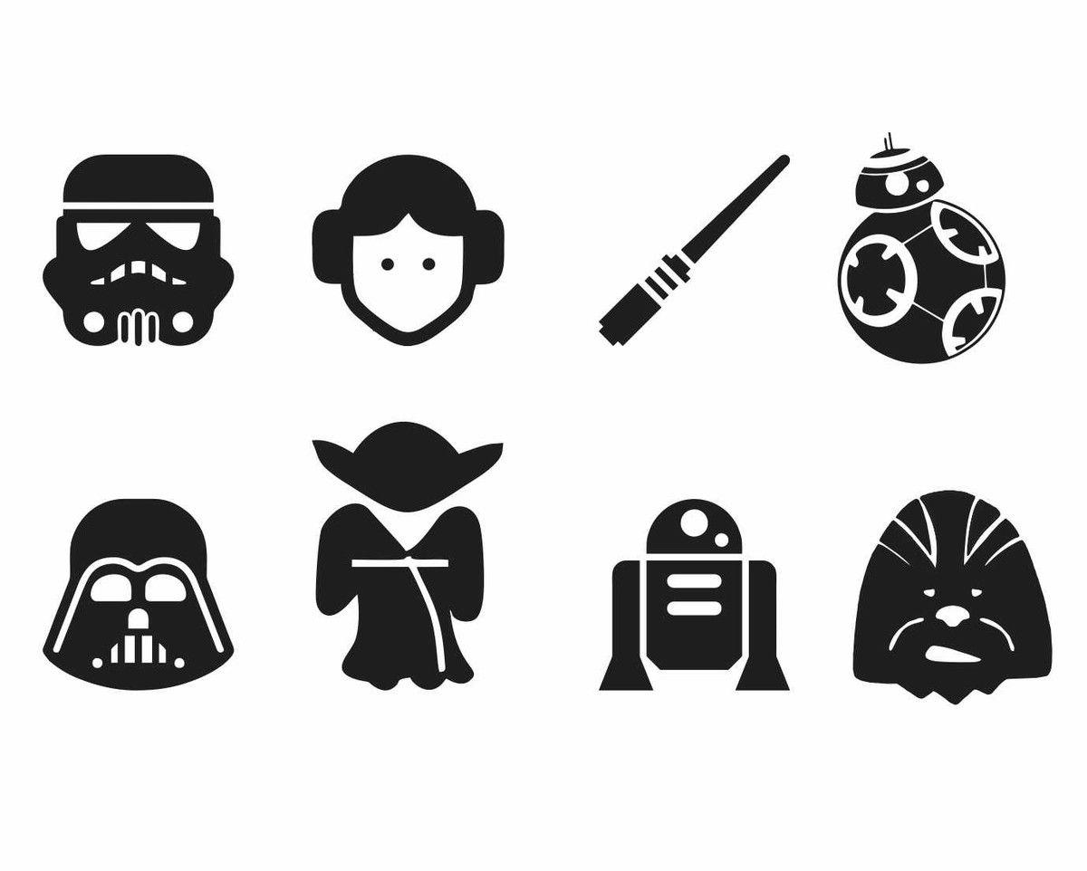 Aparador Cocina Estrecho ~ Adesivos Star Wars 60 unidades Paredes brancas, Uma vida e Médio