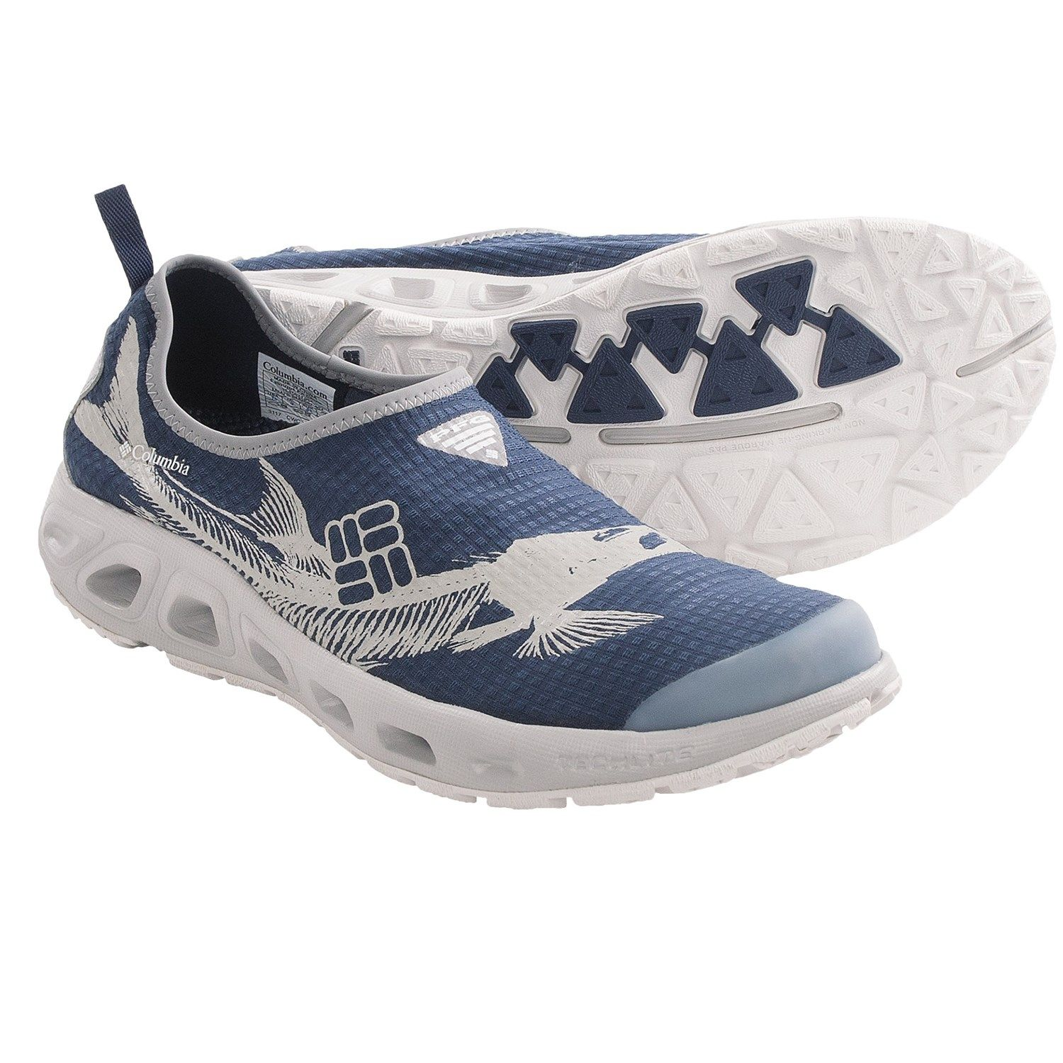 Columbia Sportswear Ventsock Pfg Water Shoes For Men In Collegiate Navy Cool Grey