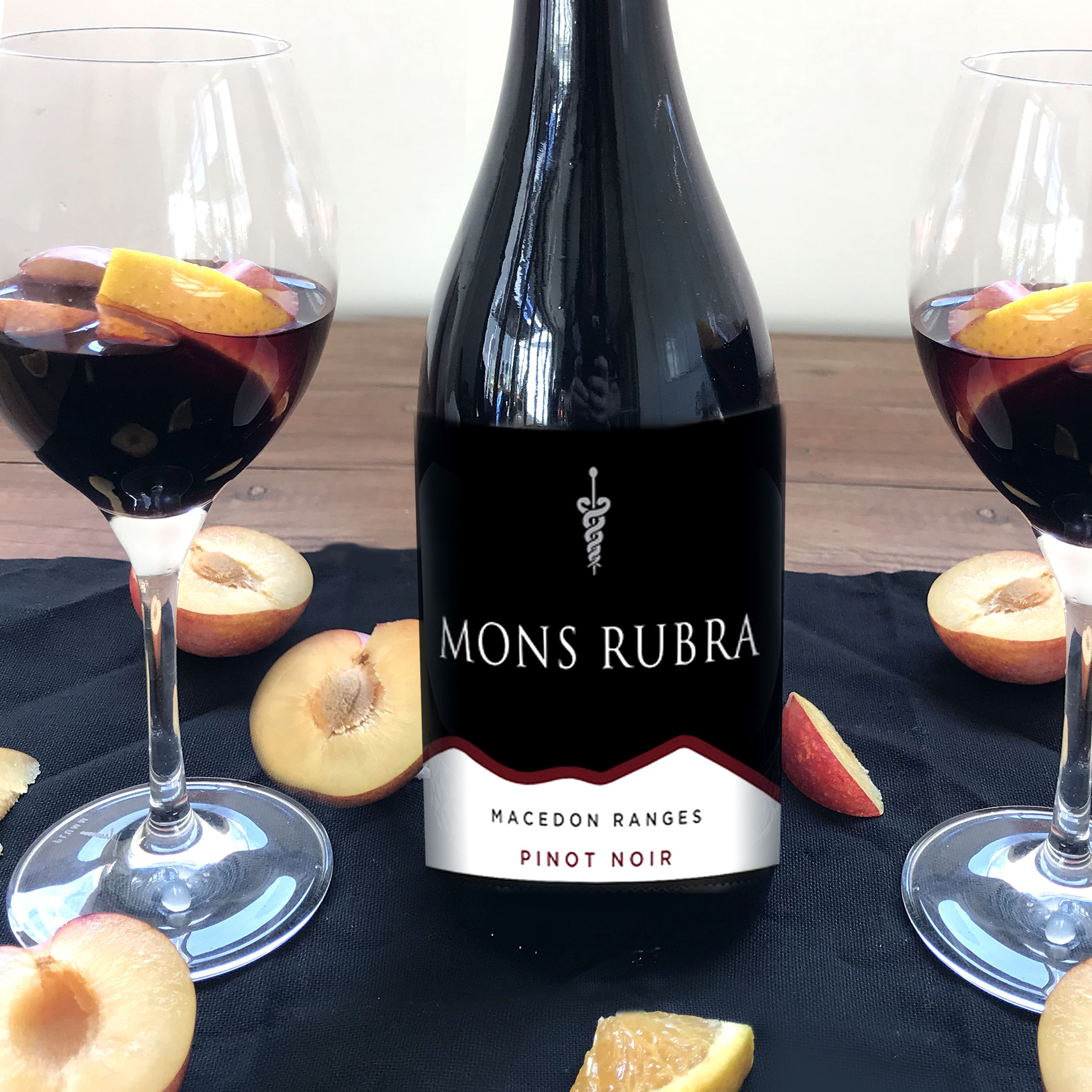 A beautiful 2010 mons rubra pinot noir with a supple and
