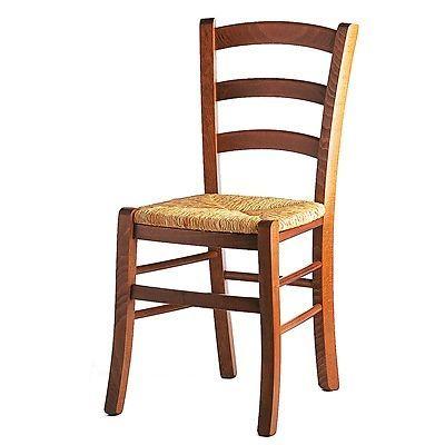 Sedia in legno con seduta in paglia   Sedia legno, Sedie ...