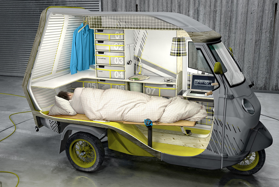 Overland Vehicle One Person Design Camper Maybe Bigger Wheels