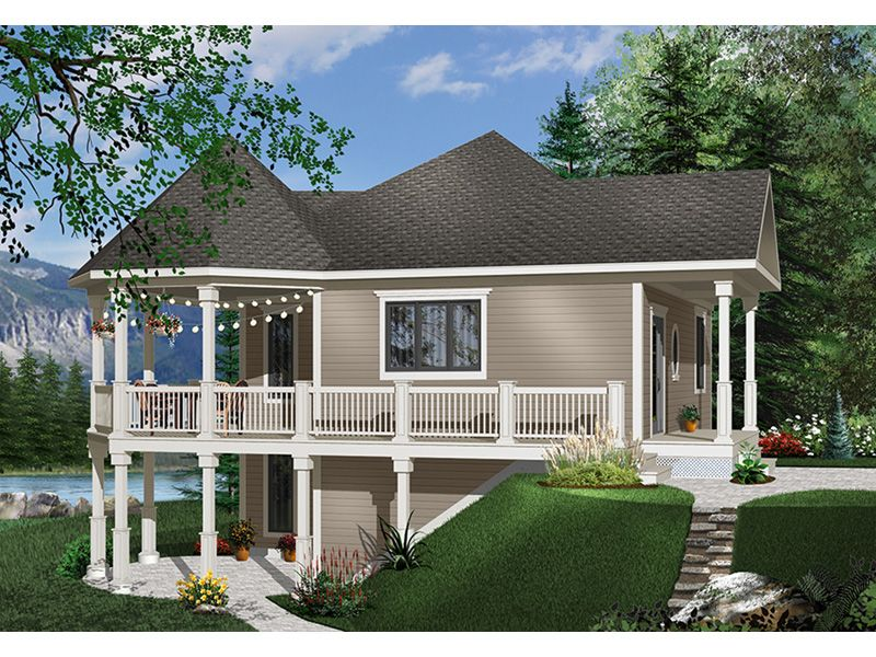 Kressley Country Vacation Home Drummond House Plans Small Lake Houses Cottage House Plans