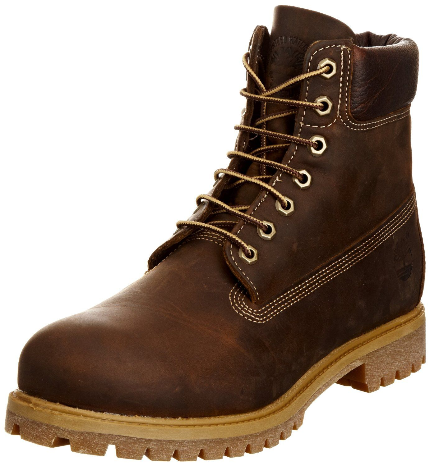 UK Shoes Store - Timberland Classic 6 man top shoes Brown (Brown Burnished Full Grain)