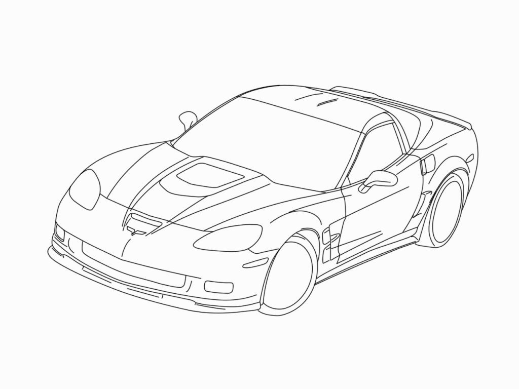 corvette coloring pages print