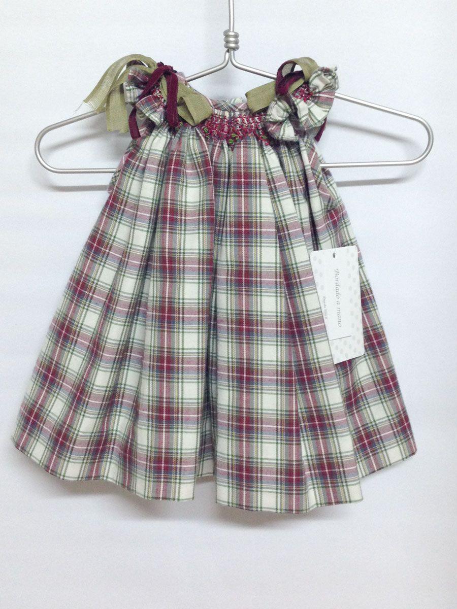 3fa630ec1 vestido escoces niña | vestido-cuadros bebe niña inviern | vestidos ...
