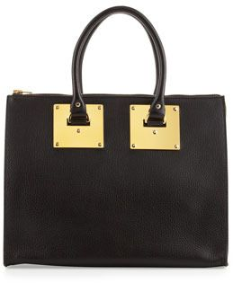 Sophie Hulme Stamped Zip-Top Bowling Bag, Black on shopstyle.com