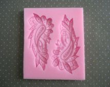 Peacock Feather Silicone Mold - Paisley Silicone Mold - Food Safe Mold - Food Safe Silicone - Fondant Mold - Resin Mold - Flexible  Mold