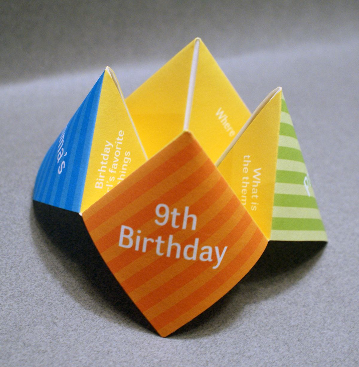 Kids Birthday Invitation Cootie Catcher // Einladung (Diy Birthday  Decorations)