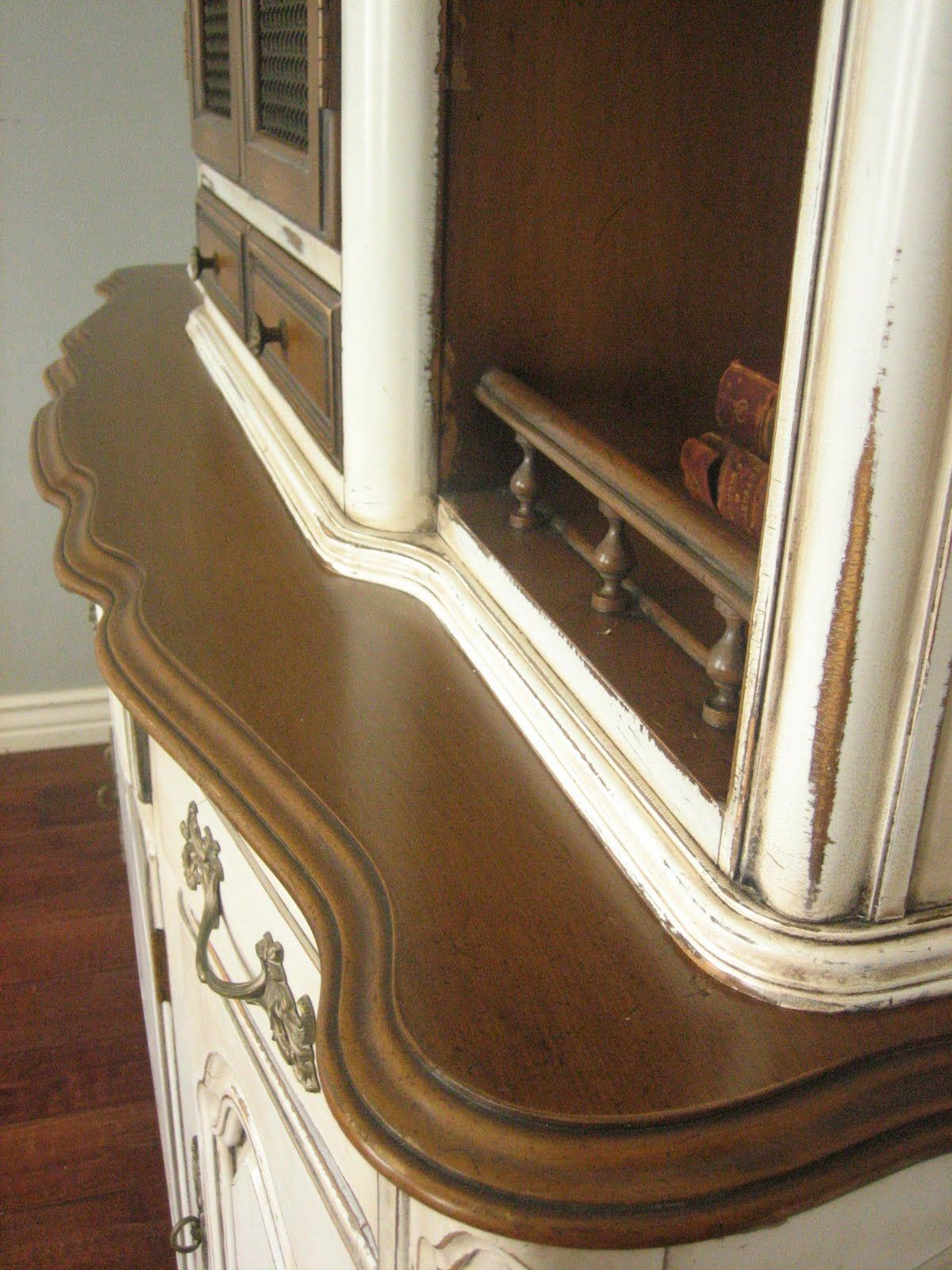 Sold Solid Pecan Wood French Provincial Hutch High End Quality By The Makers Of White Fine Furniture Co Mebane North Carolina An
