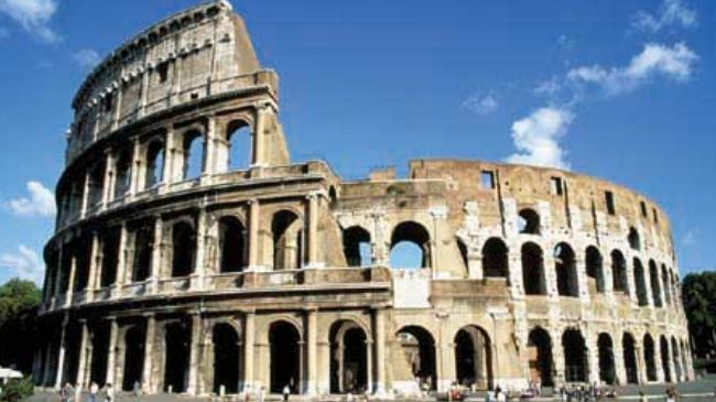 A restoration in the Italian most famous and historical monument Colosseum  has yielded ancient traces of