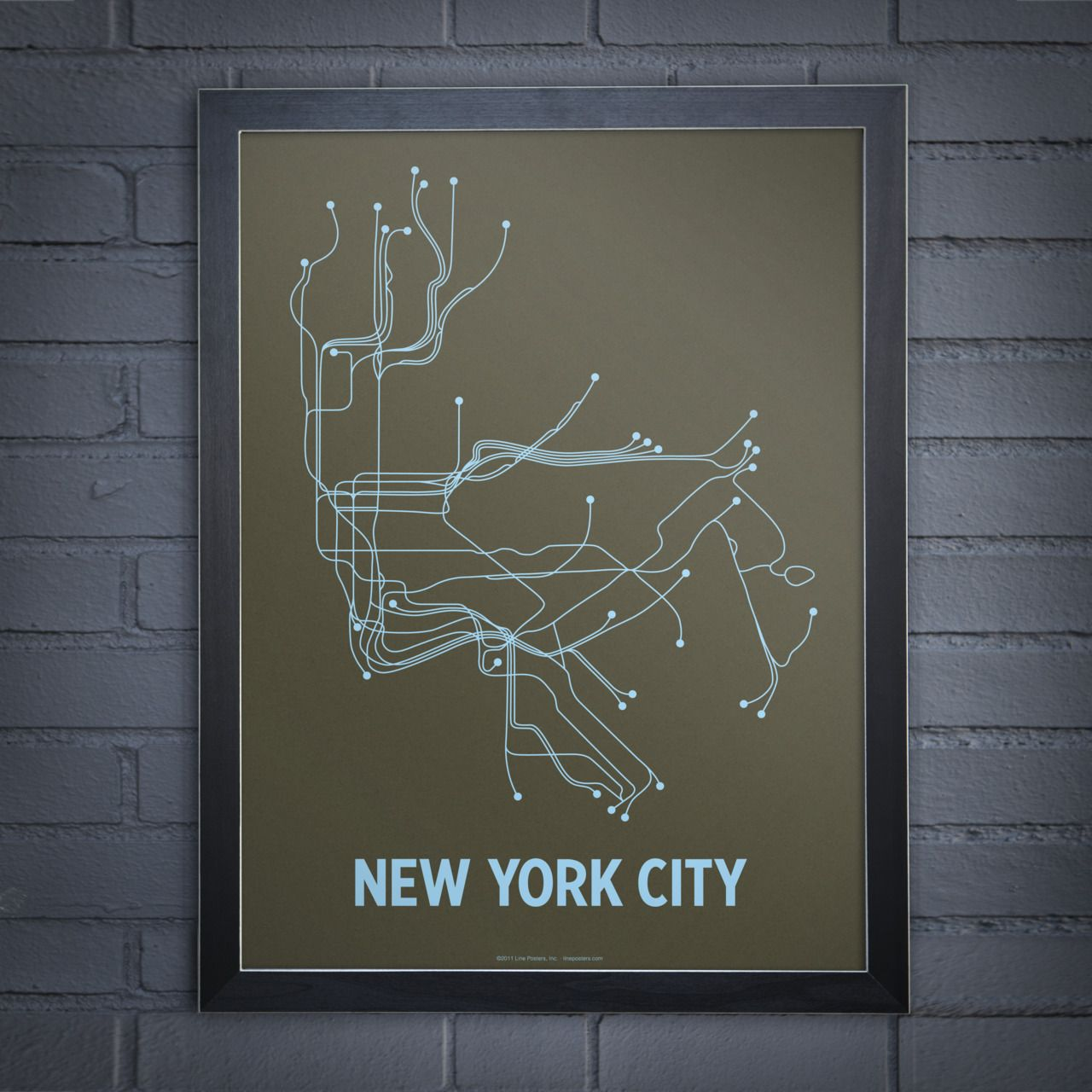 New York Subway Map Art