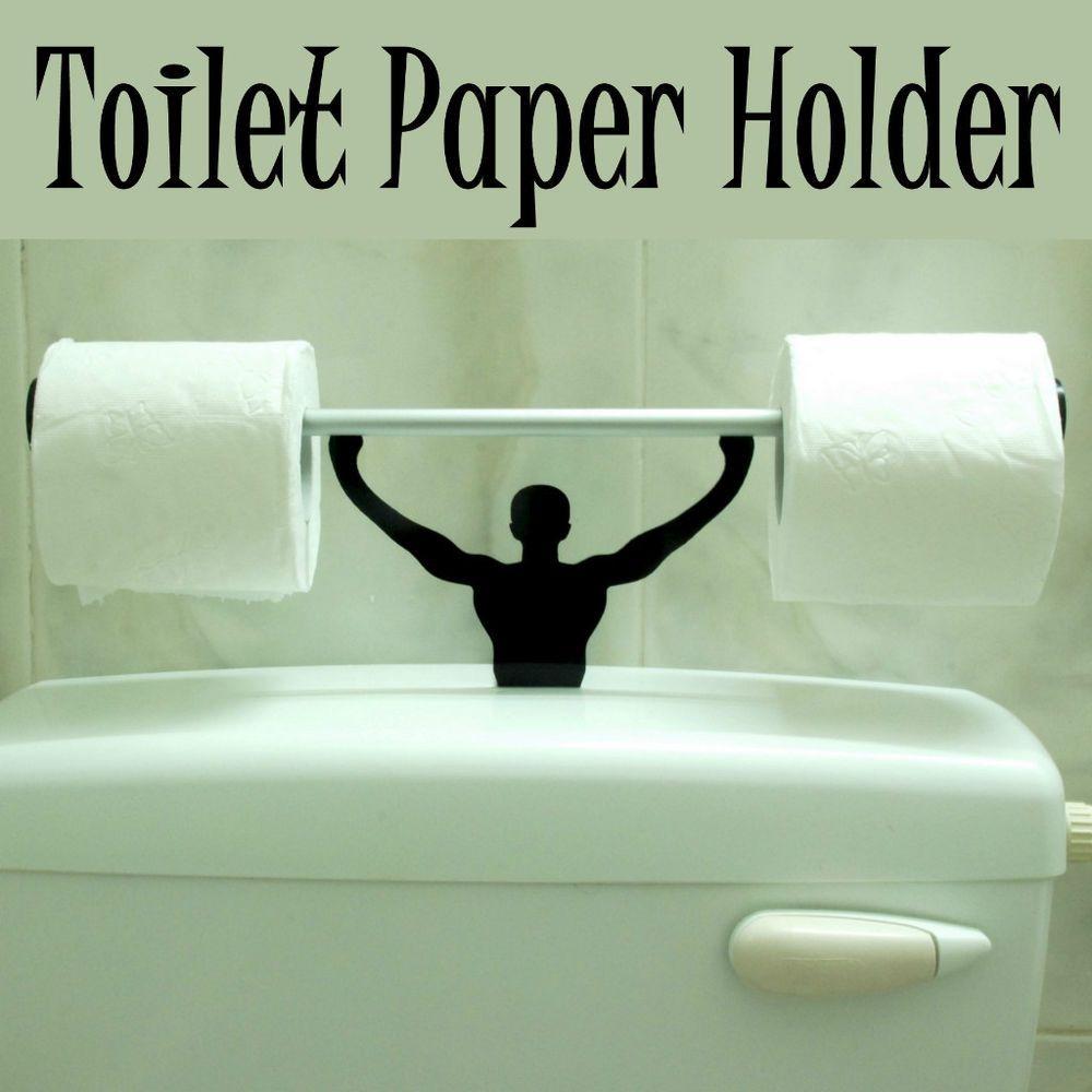designer strong man toilet paper tissue roll holder novelty present
