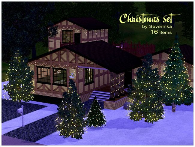 Christmas set by Severinka for the Sims 3. Happy Holidays! | Sim ...