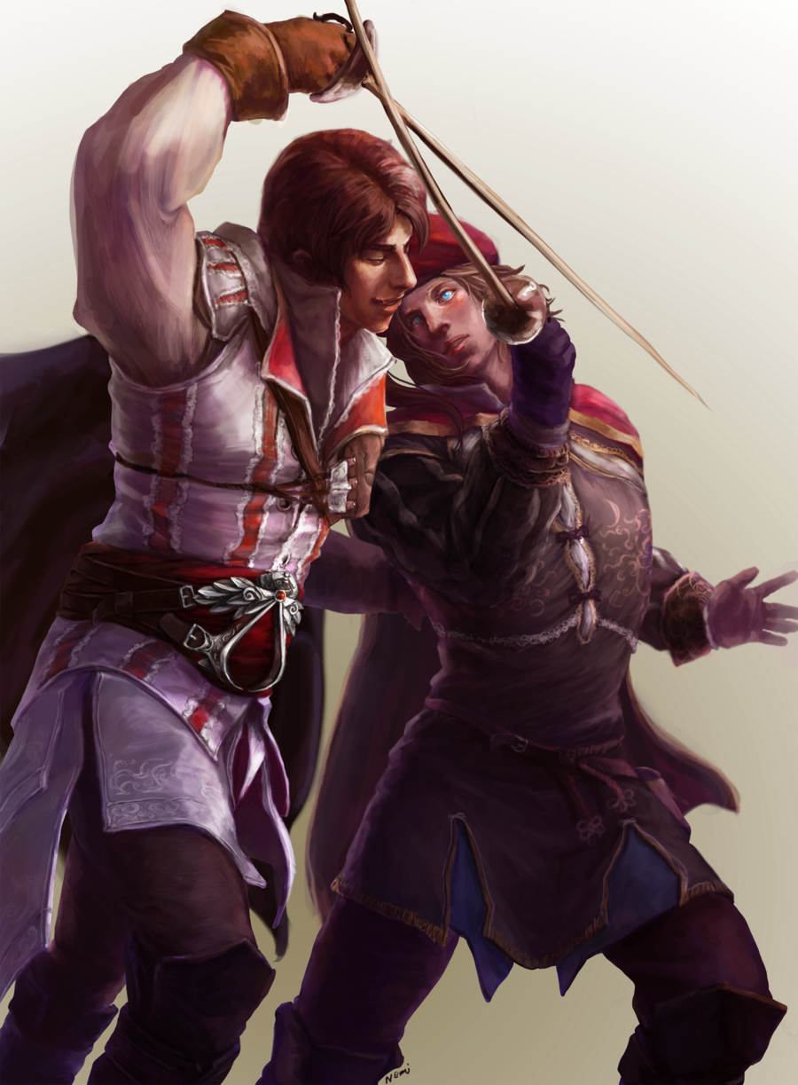 fencing_lesson_updated_ver.3 Assassins creed, Assassin's