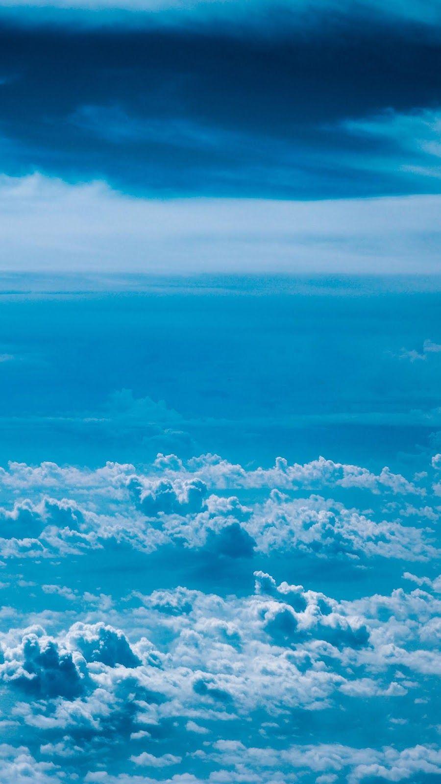 Blue sky Blue sky wallpaper, Blue wallpapers, Iphone