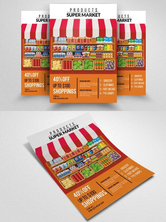 supermarket promotion flyer flyer templates 6 00 poster