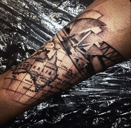 Australia Maps Of The World Tattoo Google Search Australia