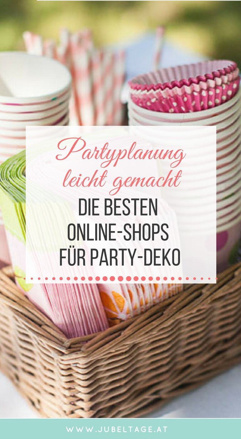 Die besten Online-Shops für stilvolle Party-Dekoration | Pinterest ...