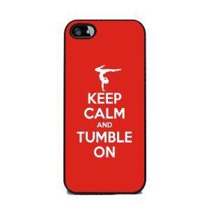 the best attitude c17ca 3fa04 Amazon.com: Keep Calm and Tumble On, Gymnastics - iPhone 5 Cover ...