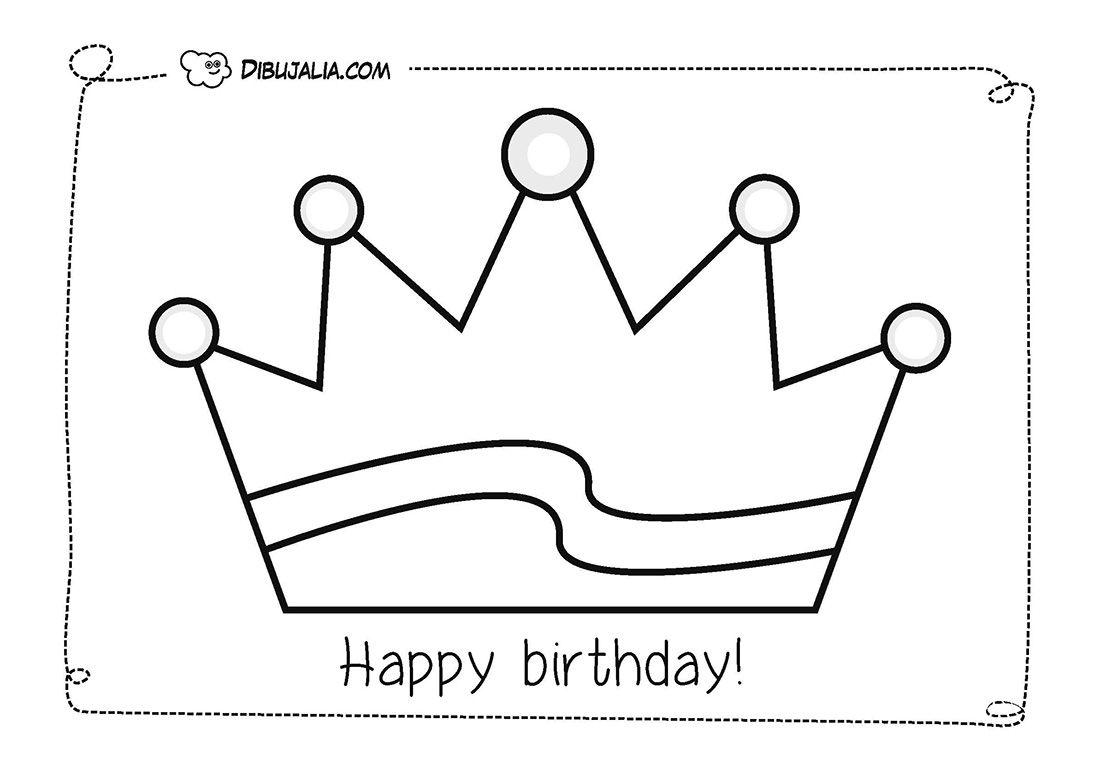 plantilla corona cumpleaños cartulina - Buscar con Google | coronas ...