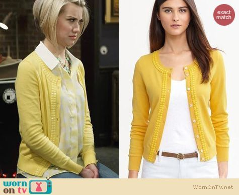 Baby Daddy Fashion: Babana Republic Yellow Double Bead Cardigan ...