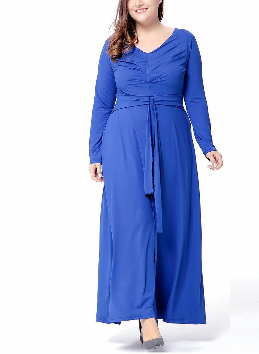 70cd4342b9968 NEW LENA's Compelling Plus Size Formal Dress with Front Slit Maxi Skirt