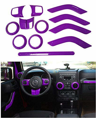 E Cowlboy Full Set Interior Decoration Trim Kit For Jeep