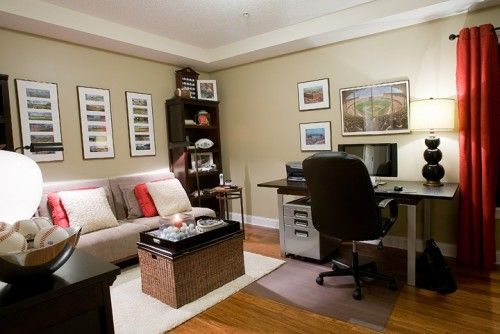 Converting Bedroom Into Office And Seating Area Contemporary Home Office Home Office Decor Home