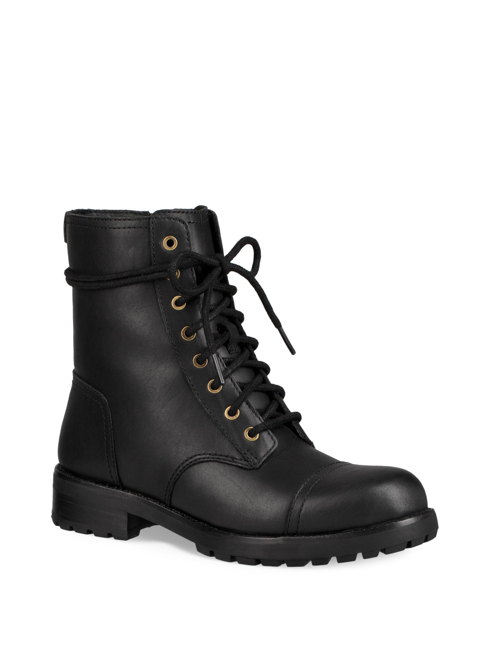 e55e125bcfc Ugg Australia Kilmer Lace-Up Leather Booties - Black 7.5 | Products ...