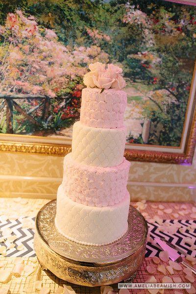 Turning Stone Wedding,  Cherry Blossom Cake, Turning Stone Resort Casino