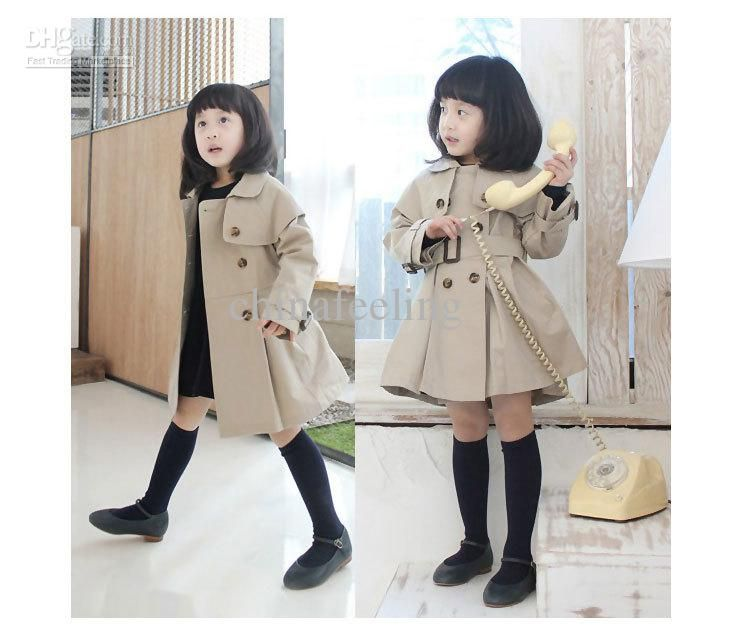 40cd376e7786 Fashion Children S Trench Coat Kids  Wind Coat Girls  Outwear Long ...