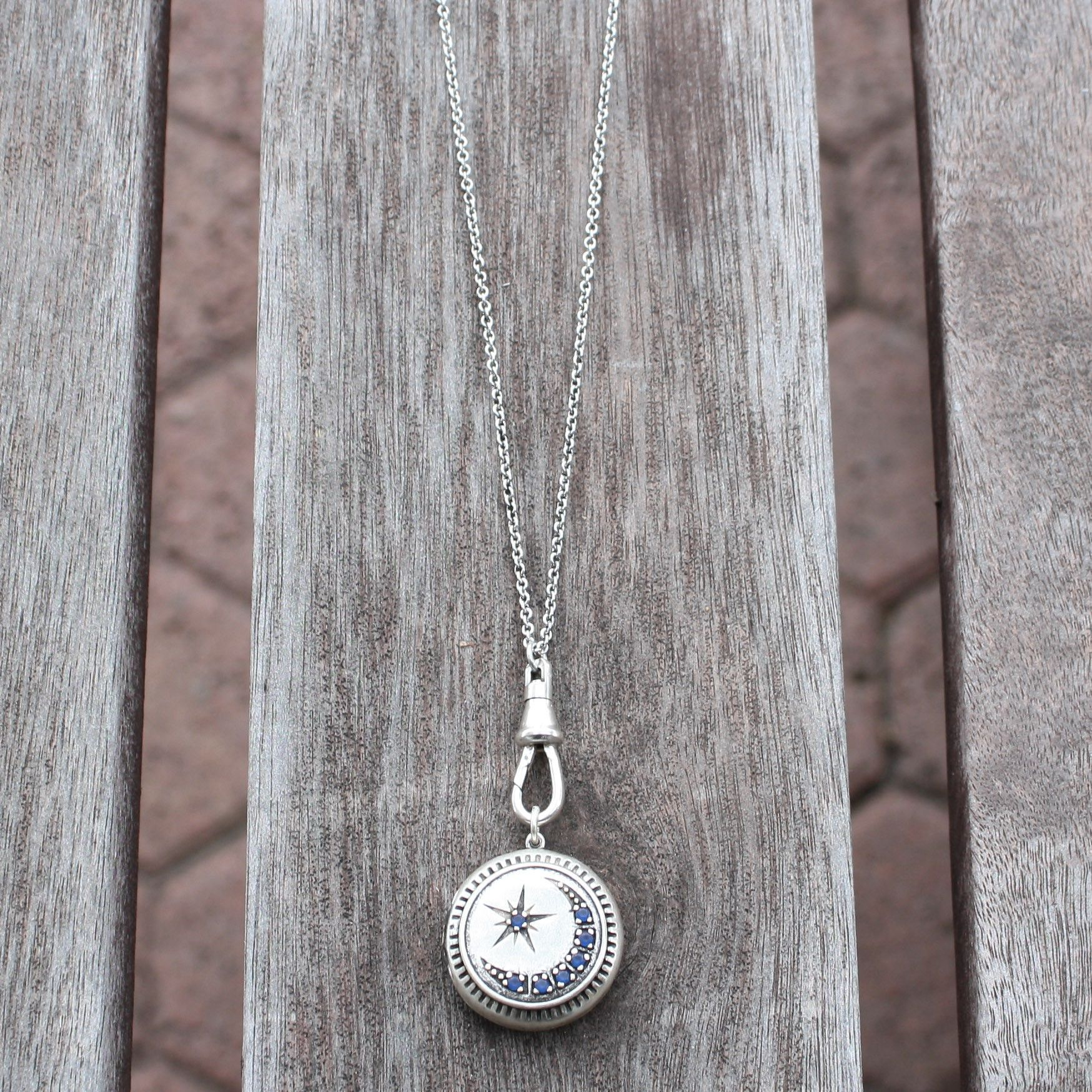 white sea prod in ourshop sapphire and glass round locket lockets necklace