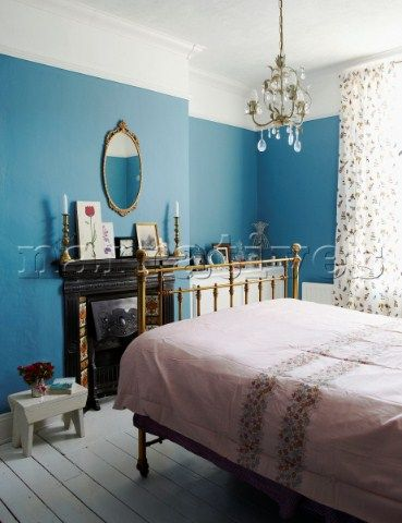 Picture Rail Blue Fireplace Hmm To Paint To The