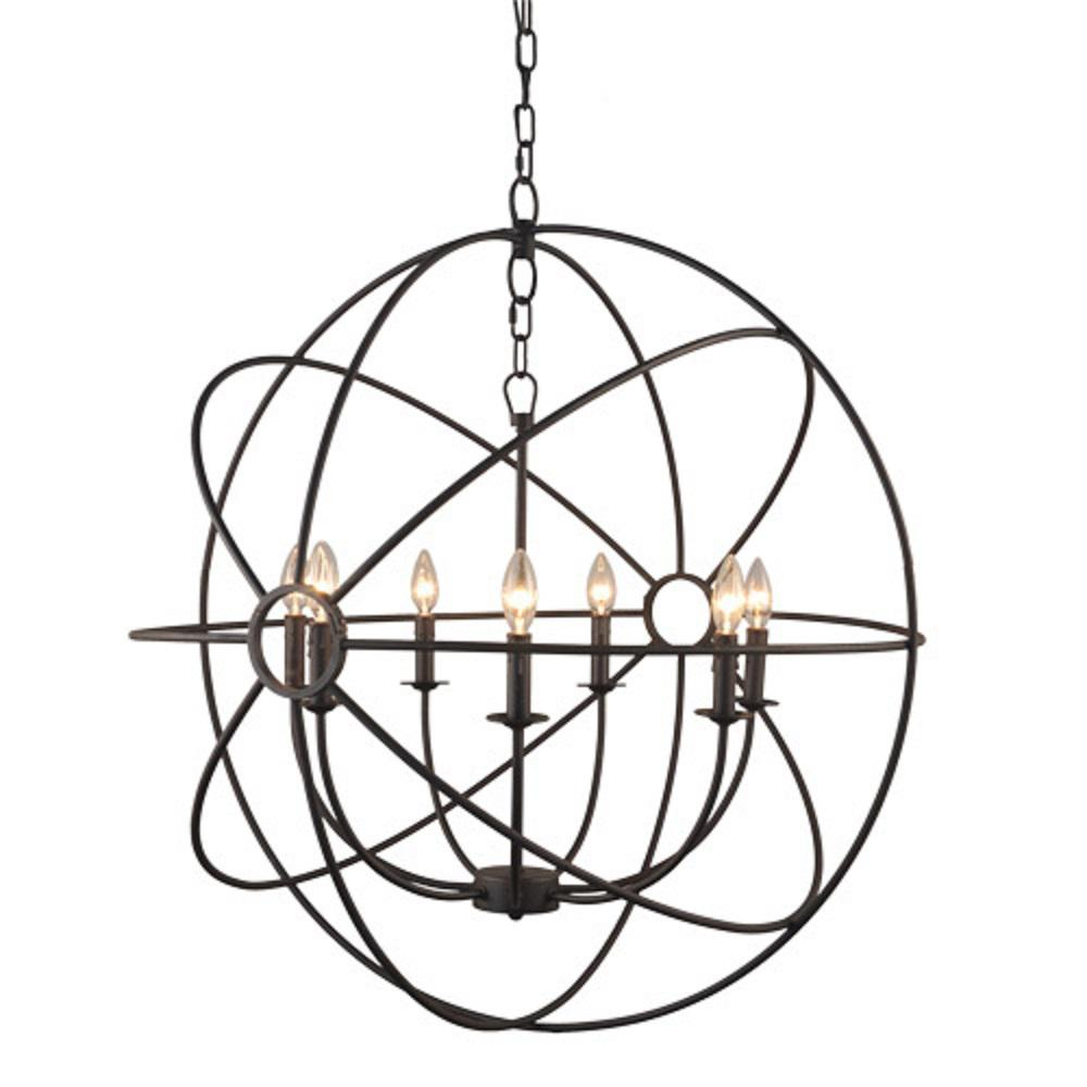 Y Decor Infinity 7 Light Rustic Bronze Mini Chandelier Rustic Chandelier Orb Chandelier Chandelier Lighting