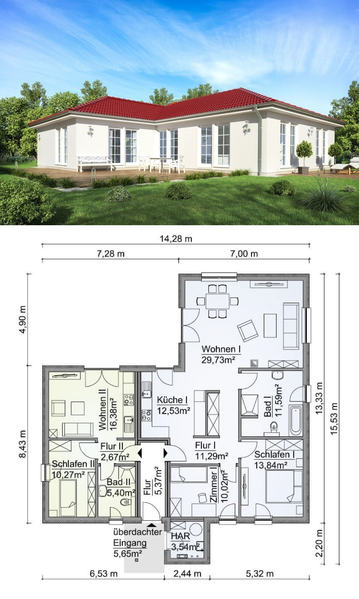 Modern architecture design bungalow house plan sh wb ew dream home ideas with one also rh pinterest