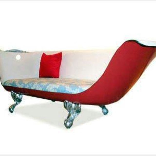 Cast Iron Tub Turned Into Seat Couch Cast Iron Tub Tiffanys Decor