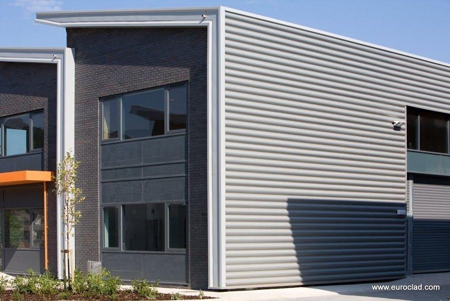 Sheet Steel Cladding : Revestimiento de fachada metal chapa ondulado